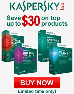 Kaspersky - Save up to $30 on top products